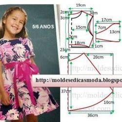 Детское нарядное платье. Выкройка (Шитье и крой)