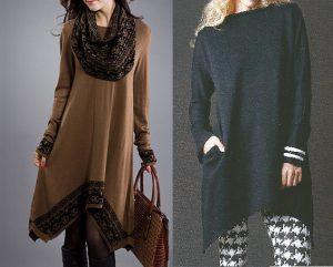 Платье-туника. Выкройка размер 36-56 португальский (Шитье и крой)