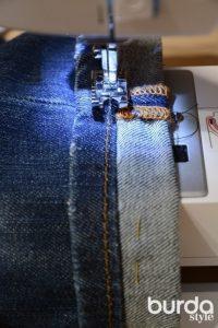 Хитрый способ подгибки джинсов с сохранением фабричной отстрочки (Шитье и крой)