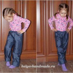 Детские утепленные брюки. Выкройка рост 110-116 см (Шитье и крой)