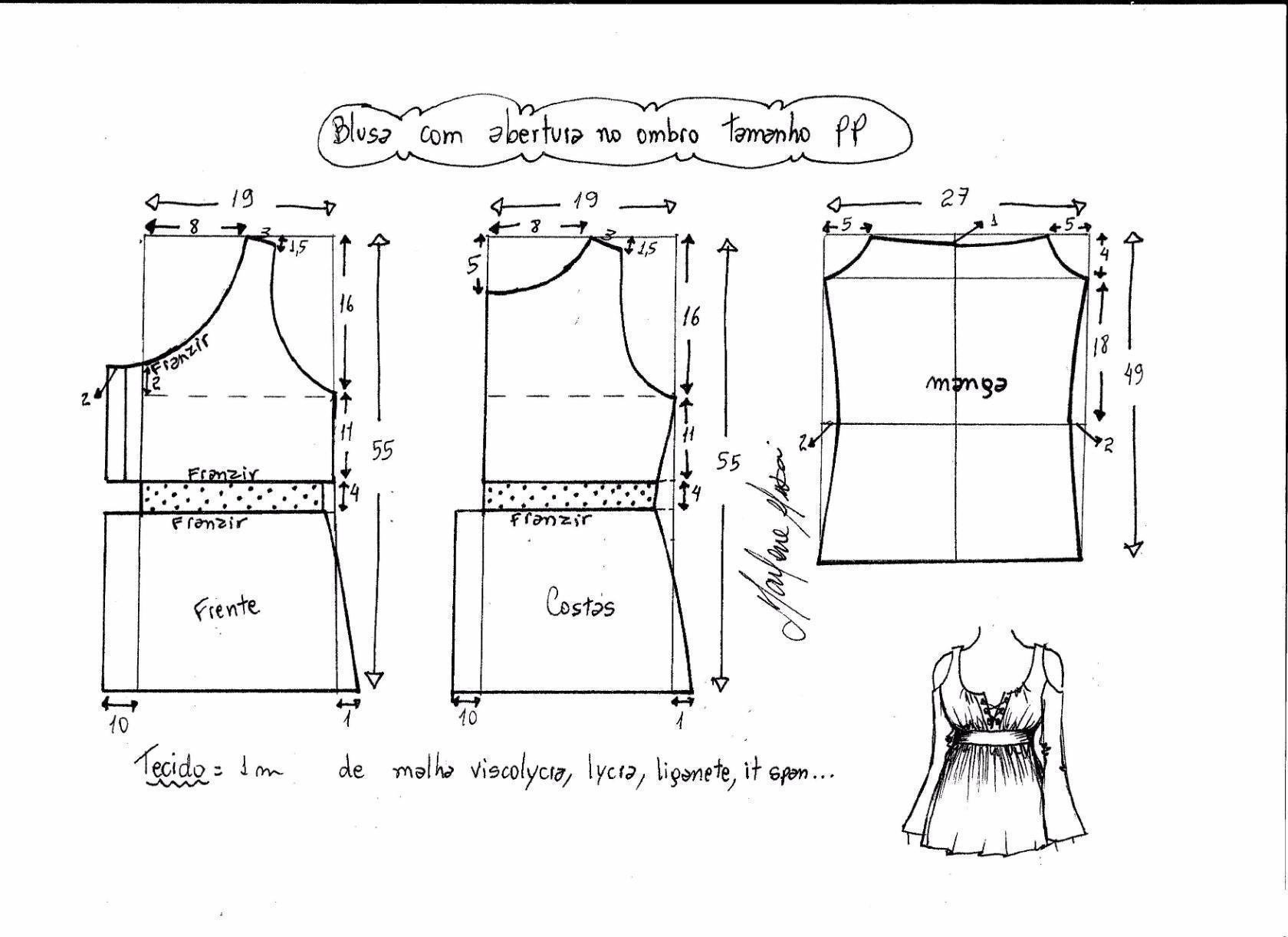 Как сделать лекало для блузки 414