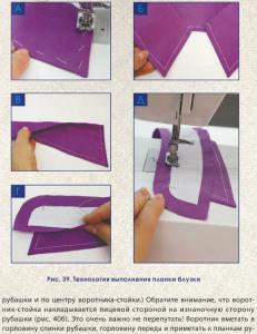 Обработка воротника на отрезной стойке (Шитье и крой)