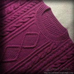 Вязаный свитер. Обвязка горловины (Уроки и МК по ВЯЗАНИЮ)