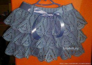 Юбка для девочки от Марины Гололобовой (Вязание крючком)