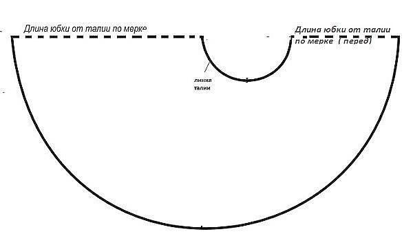 Юбки Полусолнца С Перепадом Длины