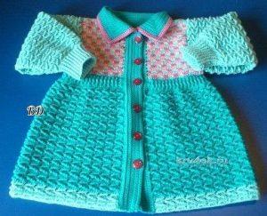 Пальто на девочку 2 лет (Вязание крючком)