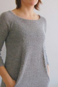 Модная туника (Вязание спицами)