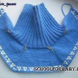 Манишка на ребенка 2-4 лет (Вязание спицами)