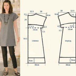 Выкройка платья. Размер 40-42 (Шитье и крой)