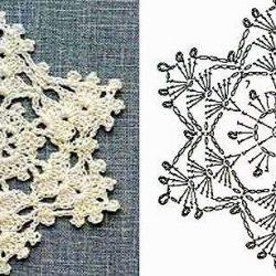 Снежинки. Схемы для вязания крючком (Уроки и МК по ВЯЗАНИЮ)