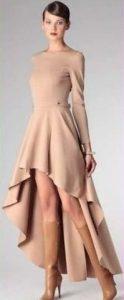 Платье с юбкой солнце со смещенным центром (Шитье и крой)