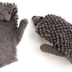 Ежовые рукавицы (Вязание спицами)