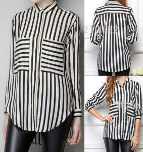 Выкройка женской рубашки. Размер 36-56 (португальский) (Шитье и крой)