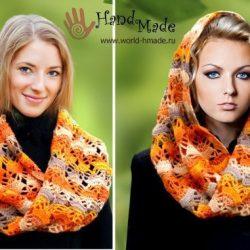 Вяжем шарф-снуд (Вязание крючком)