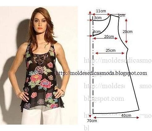 Выкройка блузки для девочки 38 размер фото 376
