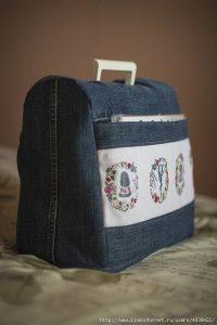 Чехол для швейной машинки из старых джинсов (Шитье и крой)