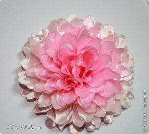 Георгины-пышечки (Цветы из ткани)