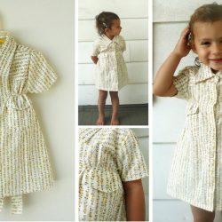Детское платьице из папиной рубашки (Шитье и крой)