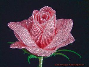 Французские розы из бисера (Бисероплетение)