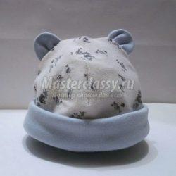 Шапочка для новорожденного с ушками. Выкройка и мастер класс (Шитье и крой)