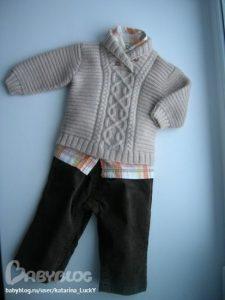 Пуловер для мальчика  (Вязание спицами)