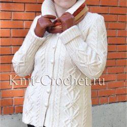 Женский жакет (Вязание спицами)