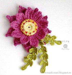 Цветы вязанные крючком (Вязаные цветы)