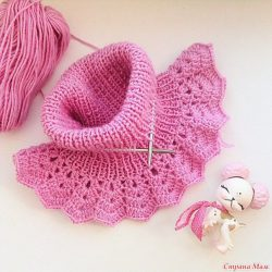 Манишка для девочки  (Вязание спицами)