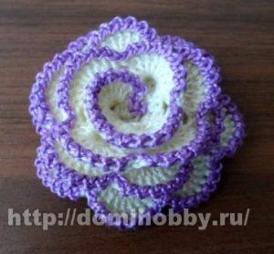 Розочка крючком (Вязаные цветы)