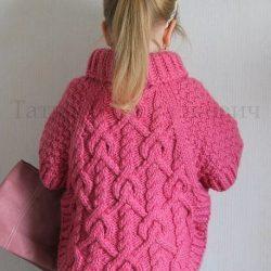 Пончо для маленькой модницы (Вязание спицами)