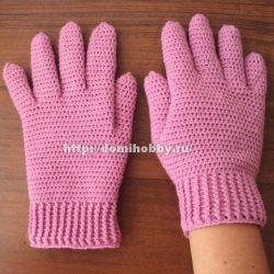 Как связать перчатки крючком (Уроки и МК по ВЯЗАНИЮ)