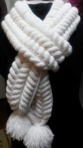 Шарф «Азиатский колосок» (Вязание спицами)