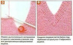 V образный вырез горловины