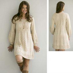 Платье «Нежность» (Вязание спицами)