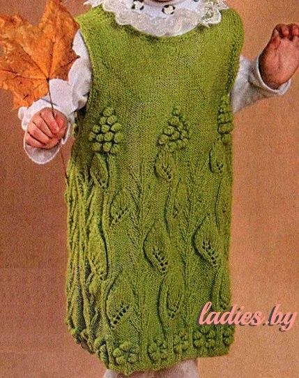 Вязание винограда спицами 36
