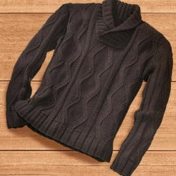 Мужской пуловер (Вязание спицами)
