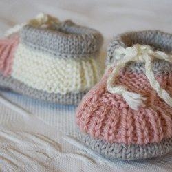 Детские пинетки (Вязание спицами)