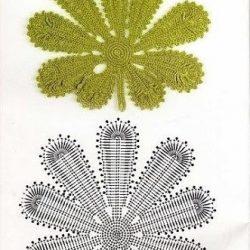 Листья и листочки крючком (Вязаные цветы)