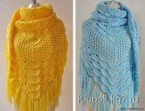 Красивые шали (Вязание крючком)