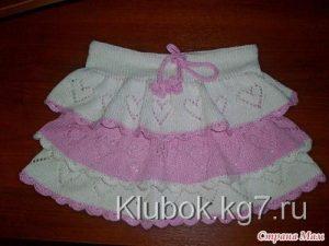 Вязаная юбочка для девочки (Вязание спицами)