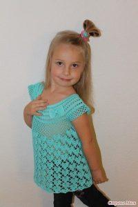 Ажурная туника для девочки 5 лет (Вязание крючком)