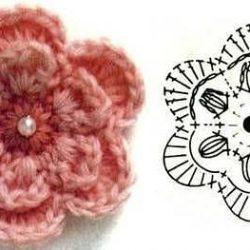 Цветы. Схемы вязания крючком (Вязаные цветы)