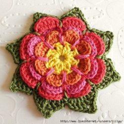 Цветочек крючком (Вязаные цветы)