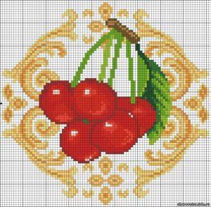 Красивая вышивка для кухни (Вышивка крестом)