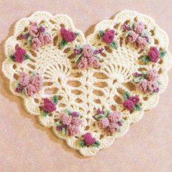 Вязаные сердечки (Вязание крючком)