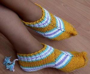 Носочки-тапочки (Вязание спицами)