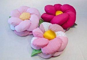 Декоративные подушки в форме цветка. Идеи для вдохновения и выкройка (Шитье и крой)