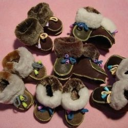 Пинетки ботиночки из меха для малыша (Шитье и крой)