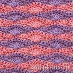 Плотный многоцветный узор (Вязание крючком)