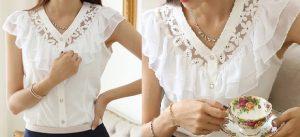 Выкройка романтической блузки 36-50 размера (Шитье и крой)